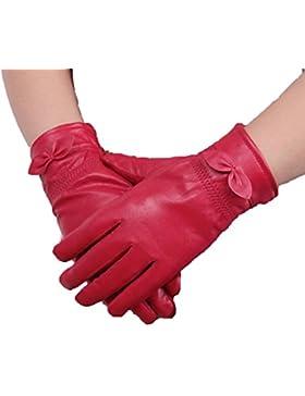 DIDIDD Guantes de piel masculina gruesa piel caliente,rojo,Un tamaño