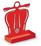 Alubox Zampirone Porta Spirale Antizanzare da Appoggio Scooter, Rosso, 5x15x20 cm
