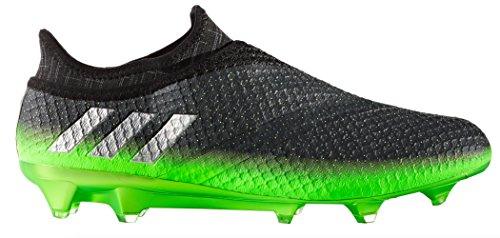 reputable site 9a309 c8077 adidas Messi 16+ Pureagility FG Techfit Socke Space Dust grün grau, Größe44