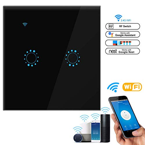 leegoal Interruptor WiFi Alexa, Touch Wireless Intelligence interruptores de Pared con Control...