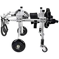Sillas de ruedas para perros con cuatro ruedas, scooters, aleación de aluminio, discapacitados
