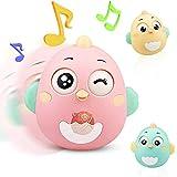 Lanero Roly Poly Stehaufmännchen Spielzeug für Babys und Neugeborene Beißring Spielzeug mit Glocke Wackelpuppe originelles Lernspielzeug (Rosa)