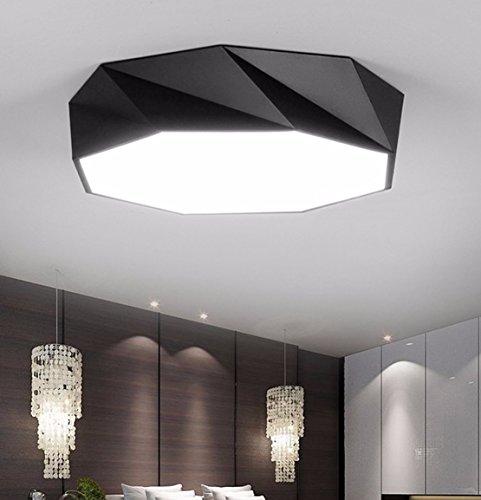 OLQMY-LED Decke Lampe, Ideen, Wohnzimmerlampe, geformt, Schlafzimmer, Restaurant Lichter, Studioleuchten, 400mm,Dimmer schwarz (Kitty Hello Schlafzimmer Für Lampen)