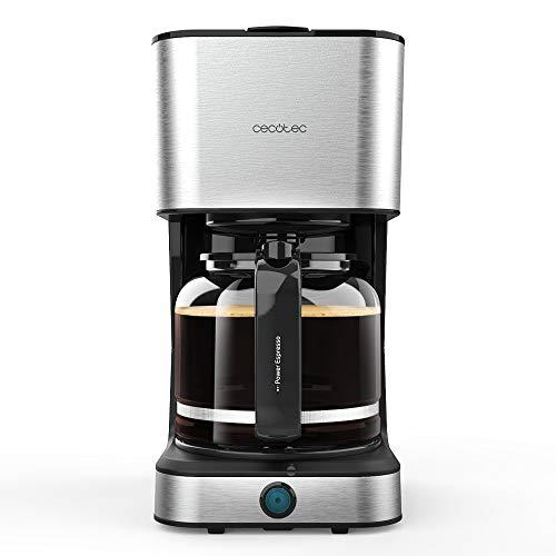 Cecotec Cafetera Goteo Coffee 66 Heat. Tecnología ExtremeAroma, Capacidad 1,5l 12 tazas, Función...