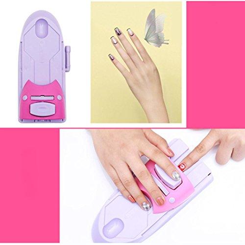 Máquina de impresión de uñas, impresora de dibujo impresa patrón de estampado de manicura máquina sello DIY Kit