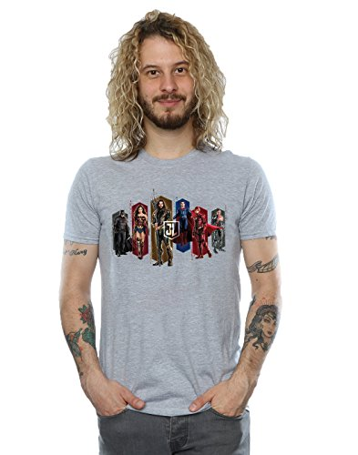 DC Comics Men's Justice League Movie Team Hexagons T-Shirt