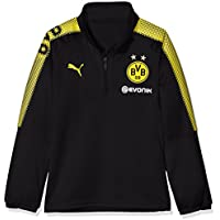 Puma Kinder BVB 1/4 Training Top with Sponsor Logo T-Shirt