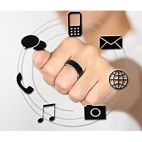 KEJI®Multifunzione anello Smart , black , 12 - Azione Heart Rate Monitor