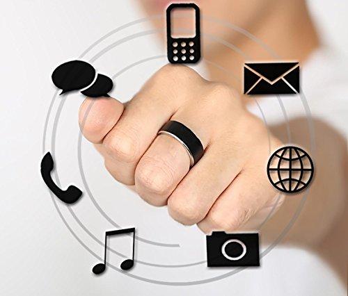 LINGHOU®Multifunzione anello Smart , black , 9 - Azione Heart Rate Monitor