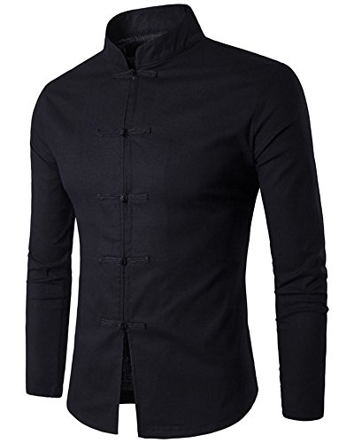mens-slim-fit-chinese-traditional-tang-shirt-cotton-linen-button-down-long-sleeve-tops-black-m