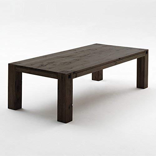Unbekannt Esszimmertisch »LEEDO« Eiche verwittert, lackiert 220 x 100 cm, Höhe 76 cm, Esstisch rustikal, Massiv-Holz Eiche