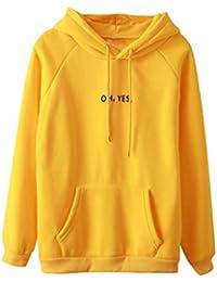 S-XL  Damen Pulli Elegant Langarm T-Shirt Yogogo V-Ausschnitt Druck Casual  Oberteile Oversized Top Hot Sale Herbst Winter… 0c6a091de2