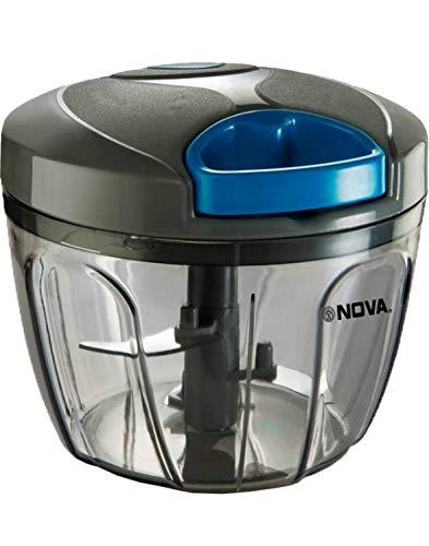 Nova NHC-900 Plastic Handy Chopper with Whisker, 900ml, Grey