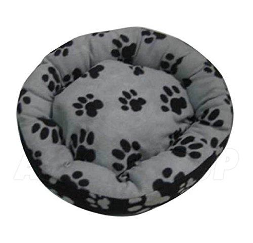 ASC Suave Mascota Cama-Gatos/Perros diseño Huellas