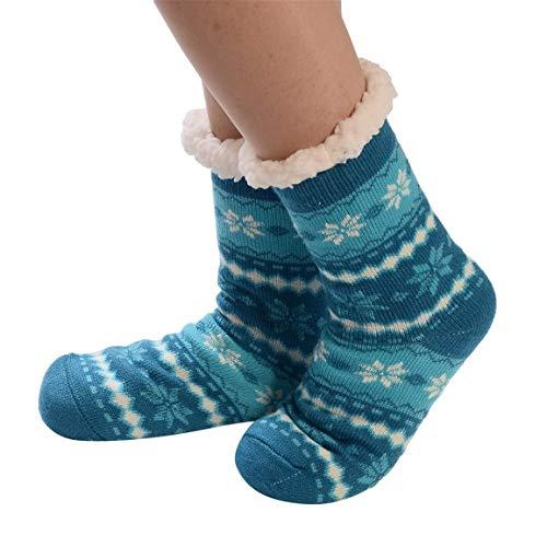 Moonuy 1 Paar Socken Frauen Weihnachten Print Socke Damen Lange Stock Baumwolle Socken Drucken Dicker Anti-rutsch-beiläufige Boden Socken Teppich Socken
