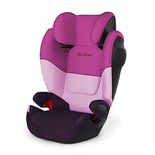Cybex Silver Solution M-fix SL, Autositz Gruppe 2/3 (15-36 kg), ohne Isofix, Purple Rain
