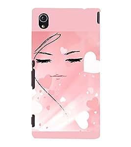 PrintVisa Girly Hearts Design 3D Hard Polycarbonate Designer Back Case Cover for Sony Xperia M4 Aqua