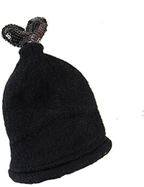 Sombrero De Lana De Los Niños Sombrero Hecho Punto Del Invierno De La Muchacha Del Muchacho Del Sombrero Gorro...