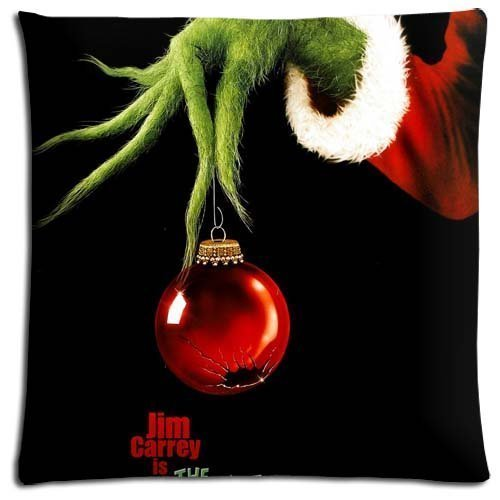 rongxincailiaoke Kissenbezüge 18x18 inch Bench Pillow Shells Cases Cotton - Polyester Imported Custom How The Grinch Stole Christmas