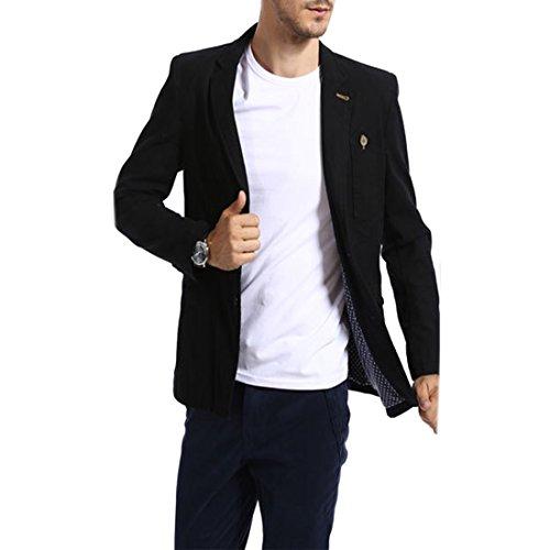 Partiss pour homme idéales pour loisirs ou travail anzugsjacke blazer pour homme sakko-couleur : Noir - Noir