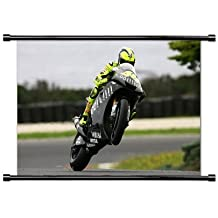 "Yamaha Valentino Rossi tela para moto de pared Póster de desplazamiento (32""x 42)"