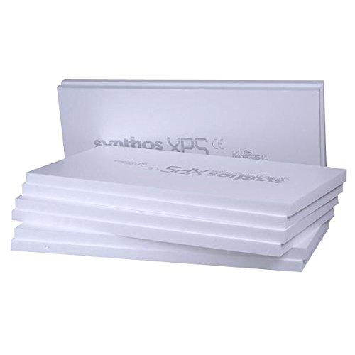 6m² XPS Sockeldämmplatte in 60mm Synthos Prime S (8 Platten) WLG 032 Wärmedämmung 300kPa Druckfest