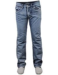 Hommes Jeans Cargo Combat Peviani Pantalon Urbain Jambe Droite Pantalon Bas