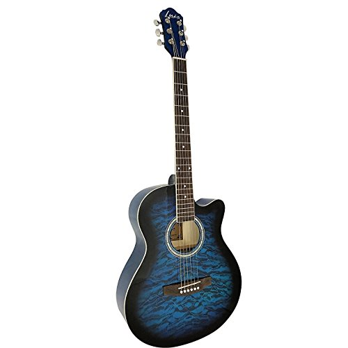 Luis by Acandoo Akustische Gitarre acoustic Westerngitarre 4030 blue burst mit Cutaway