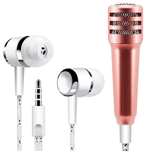 Forepin® Universale Auricolare In Ear Stereo con Mini Microfono - Rose Gold
