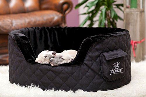 Knuffelwuff 12745 Hundebett Henry aus 5 cm Schaumstoff - Größe M - L, 80 x 60 cm, schwarz