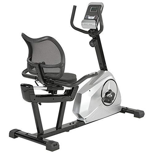 maxVitalis Liegeheimtrainer, Sitzheimtrainer mit Magnetbremse u. Rückenlehne, extra tiefer Einstieg, 8 Widerstandsstufen, mit Transportrollen u. Pulsmessung, für Senioren, bis 120 kg