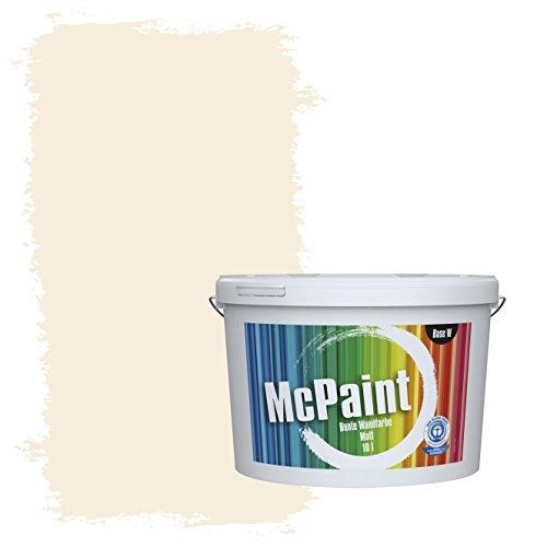 McPaint Bunte Wandfarbe Wolkenweiß - 5 Liter - Weitere Weiße und Helle Farbtöne Erhältlich - Weitere Größen Verfügbar
