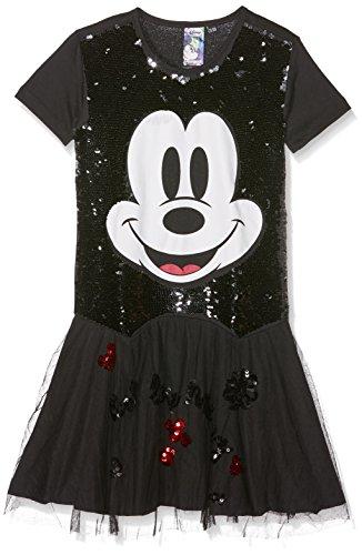 Desigual Mädchen Kleider VEST_IRUNE, Gr. 164 (Herstellergröße:13/14), Schwarz (Negro (Kleid Mickey)