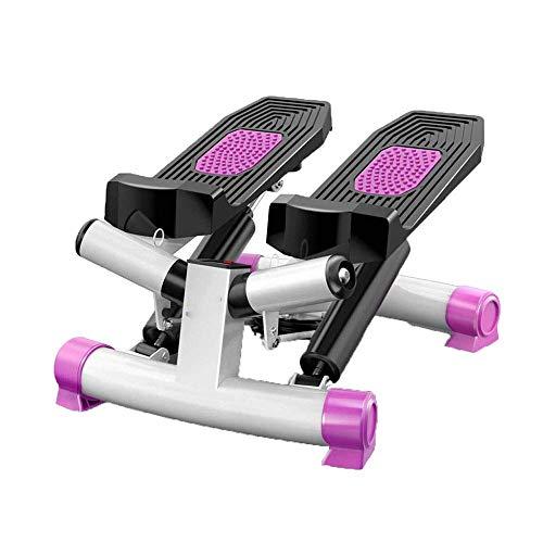 QINGCHUNSUIY 3D Stepper Bench Stepper für Anfänger und Fortgeschrittene Klein und Kompakt Inklusive rosa Trainingsgürtel
