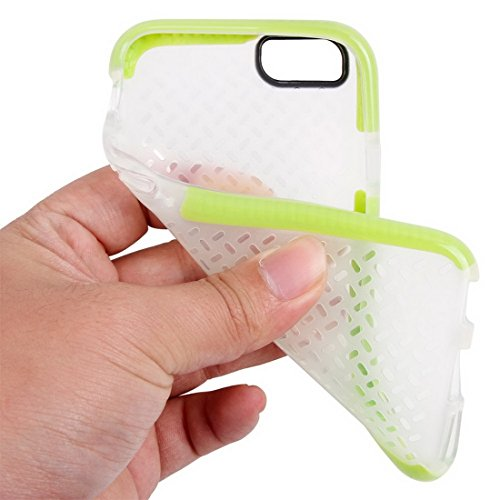 YAN Für iPhone 6 / 6s, Reis Körner Muster TPU Schutzhülle YAN ( Color : Orange ) Green