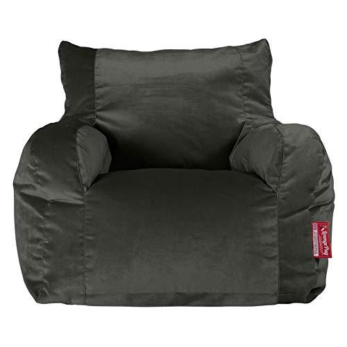 Lounge Pug®, Sitzsack Ohrensessel, Samt Schiefergrau