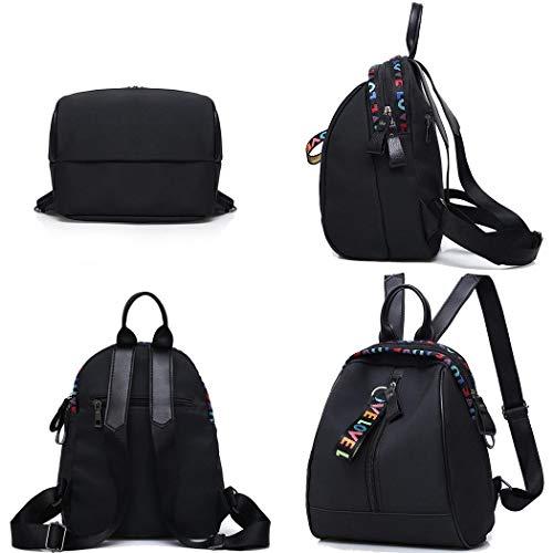 Voiks Frauen Mädchen Rucksack Casual Patchwork Quaste Zip Big Capacity Bag Rucksäcke - Patchwork-quaste