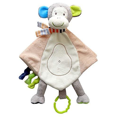 Fliyeong Premium Baby Affe Schmusetuch Kuscheldecke Weiches Plüsch Schmusetuch Spielzeug für Baby Mädchen Jungen, beste Geschenke Plüsch Spielzeug -