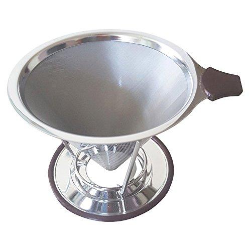 HTDirect Kaffeefilter Handfilter permanentfilter Geeignet Für 1 bis 4 Tassen Kaffee (Schwarz)