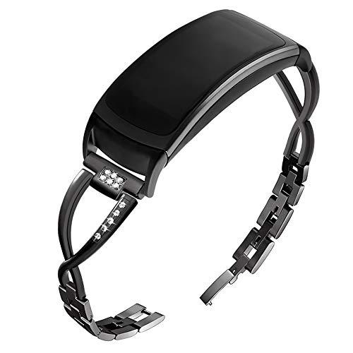 OenFoto kompatibel Gear Fit 2 Pro/Fit 2 Band, Zubehör Ersatzgurt aus Silikon für Samsung Gear Fit 2 Pro SM-R365 und Gear Fit 2 SM-R360 Smartwatch -Lila-A