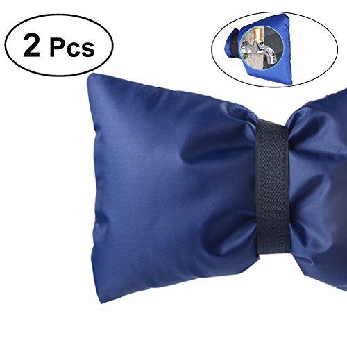 Ounona 2 Stck. Gefrierschutz - Abdeckungen für Wasserhahn, Farbe: Blau