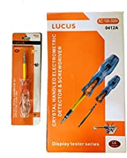 Lucus 2-In-1 Screwdriver Dual Head Electrical Tester Pen Voltage Detector Pocket Tool