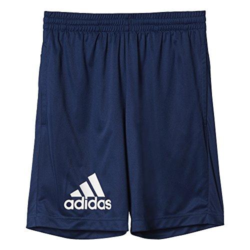 adidas YB GU KN Short Kurze Hose für Junge, Blau (Azumis/Weiß), 140