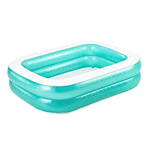 Bestway BW54005-20 Inflatable Family Pool, Blue Rectangular with Water Capacity 450L