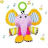 JAMSWALL Juguetes Musicales Elefante, Colgantes para cochecitos cunas...