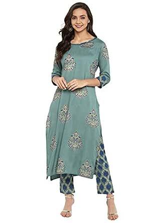 Janasya Women's Rayon Readymade Salwar Suit