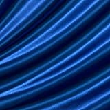 Satin Stoff Meterware Royal - Blau