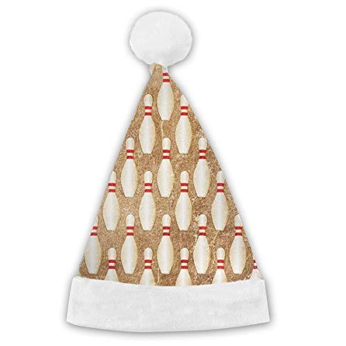 Bowling Pin Kostüm - Vintage Bowling Pins Adults&Children Christmas Santa Claus Hat Party Supplies Costume Xmas Decoration