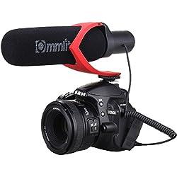 Comica CVM-V30 Cámara de escopeta Micrófono Super-Cardioid Condensador direccional Fotografía Entrevista Video Micrófono para Canon Sony Nikon DSLR Panasonic GH4 / GH5 (Rojo)