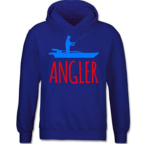 Angeln - Angler Boot - Angelboot - langärmeliger Herren Kapuzenpullover / Hoodie